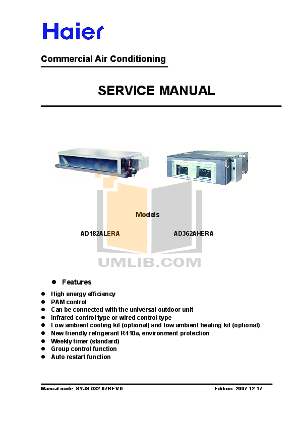 pdf for Haier Microwave TG 17 manual