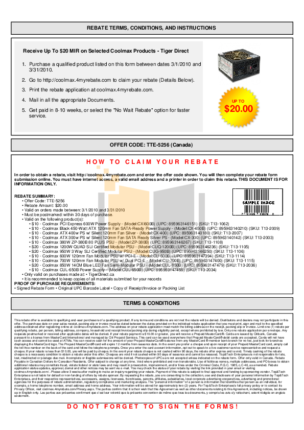 pdf for Coolmax Other CUG-700B Power Supply manual