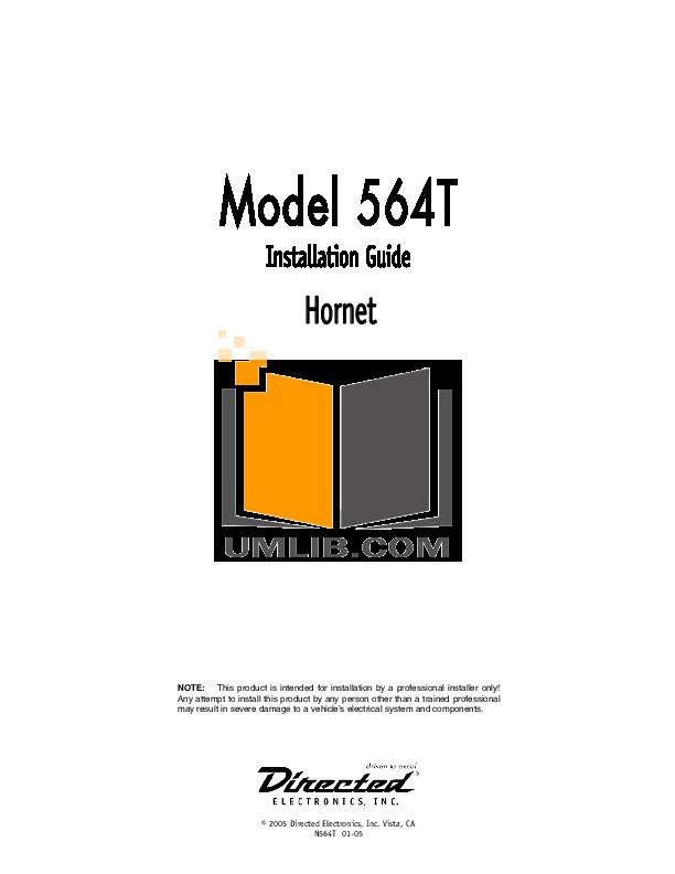 Hornet 564t manuals.