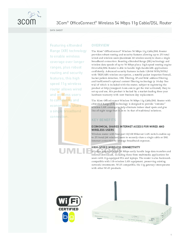 download free pdf for 3com officeconnect 3crusb10075 wireless usb rh umlib com Online User Guide Example User Guide