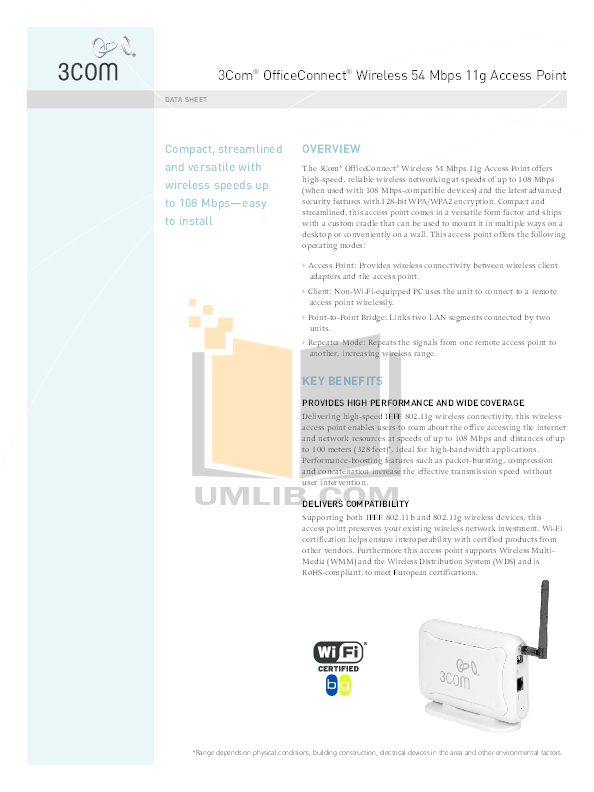 pdf manual for 3com other officeconnect 3crusb10075 wireless usb adapter rh umlib com User Guide Template User Manual