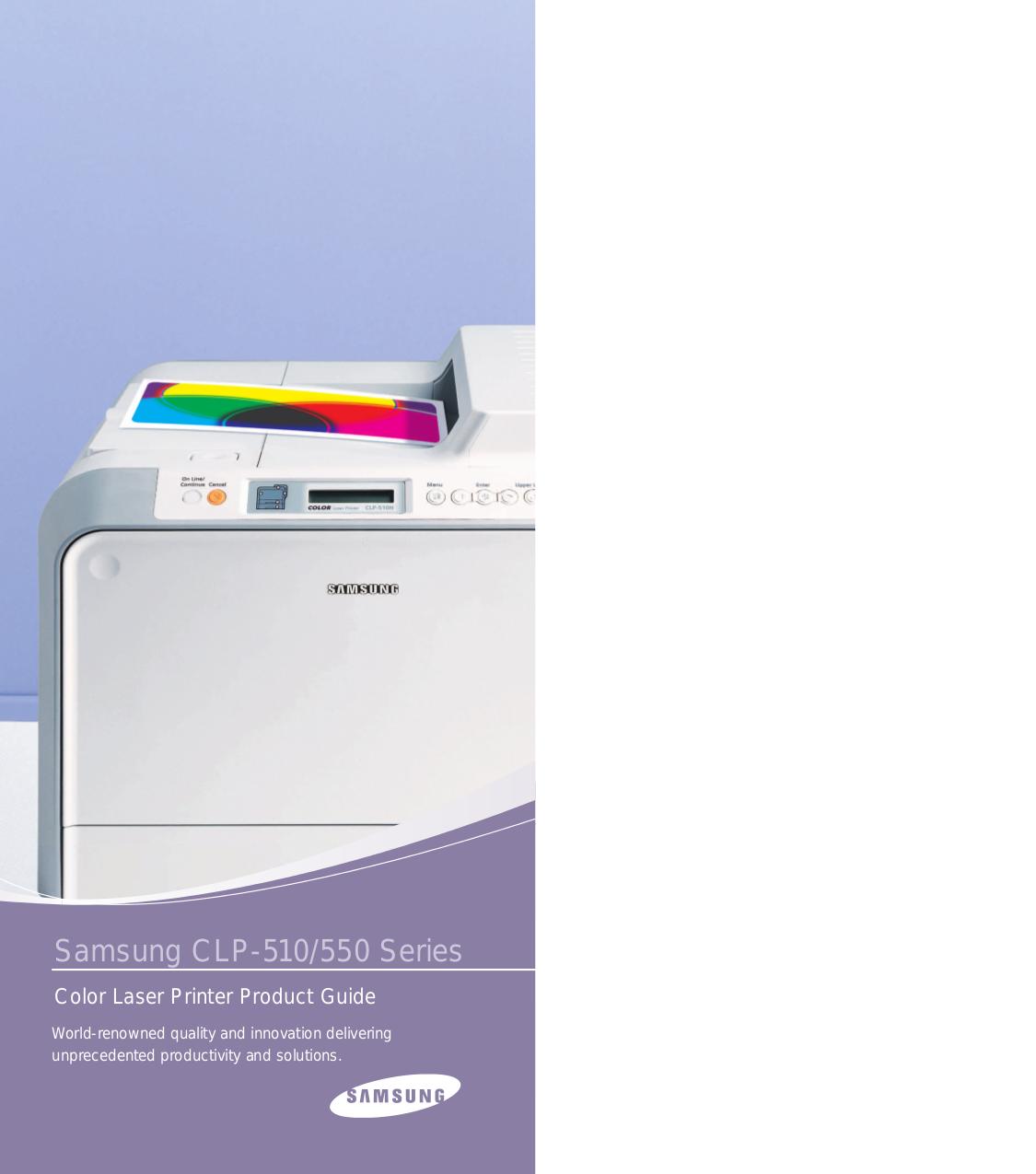 pdf for Samsung Printer CLP-550 manual