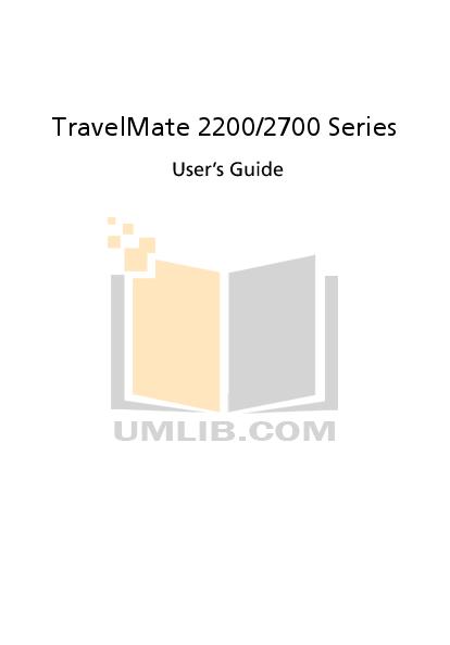 Download Free Pdf For Acer Travelmate 2200 Laptop Manual
