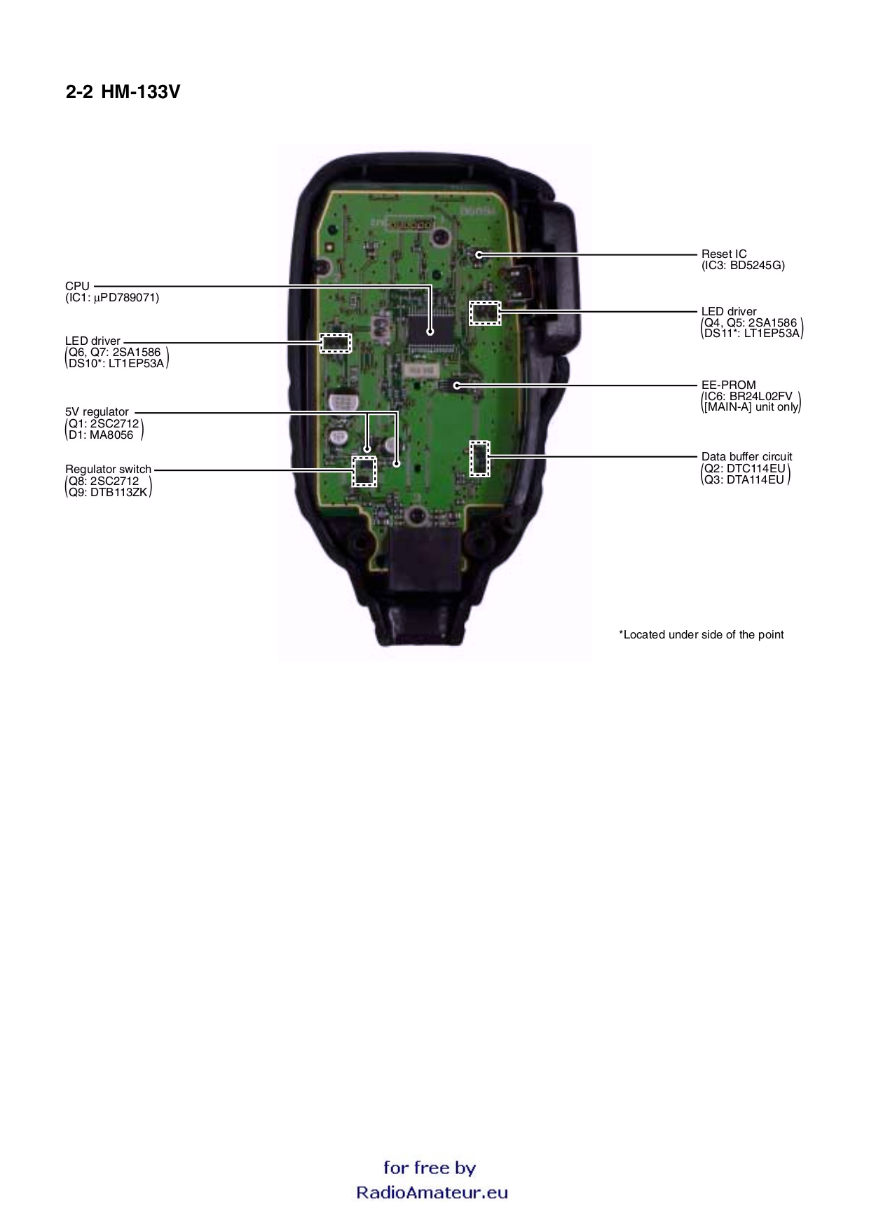 Icom_HM 133_serv.pdf 5 pdf manual for icom other hm 133s microphone icom hm-152 microphone wiring diagram at couponss.co