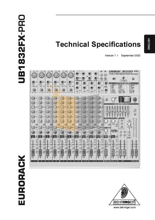 инструкция Behringer Ub1832fx-pro - фото 9