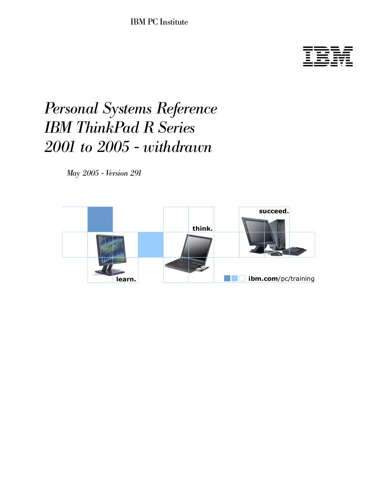 pdf for IBM Laptop ThinkPad R30 manual
