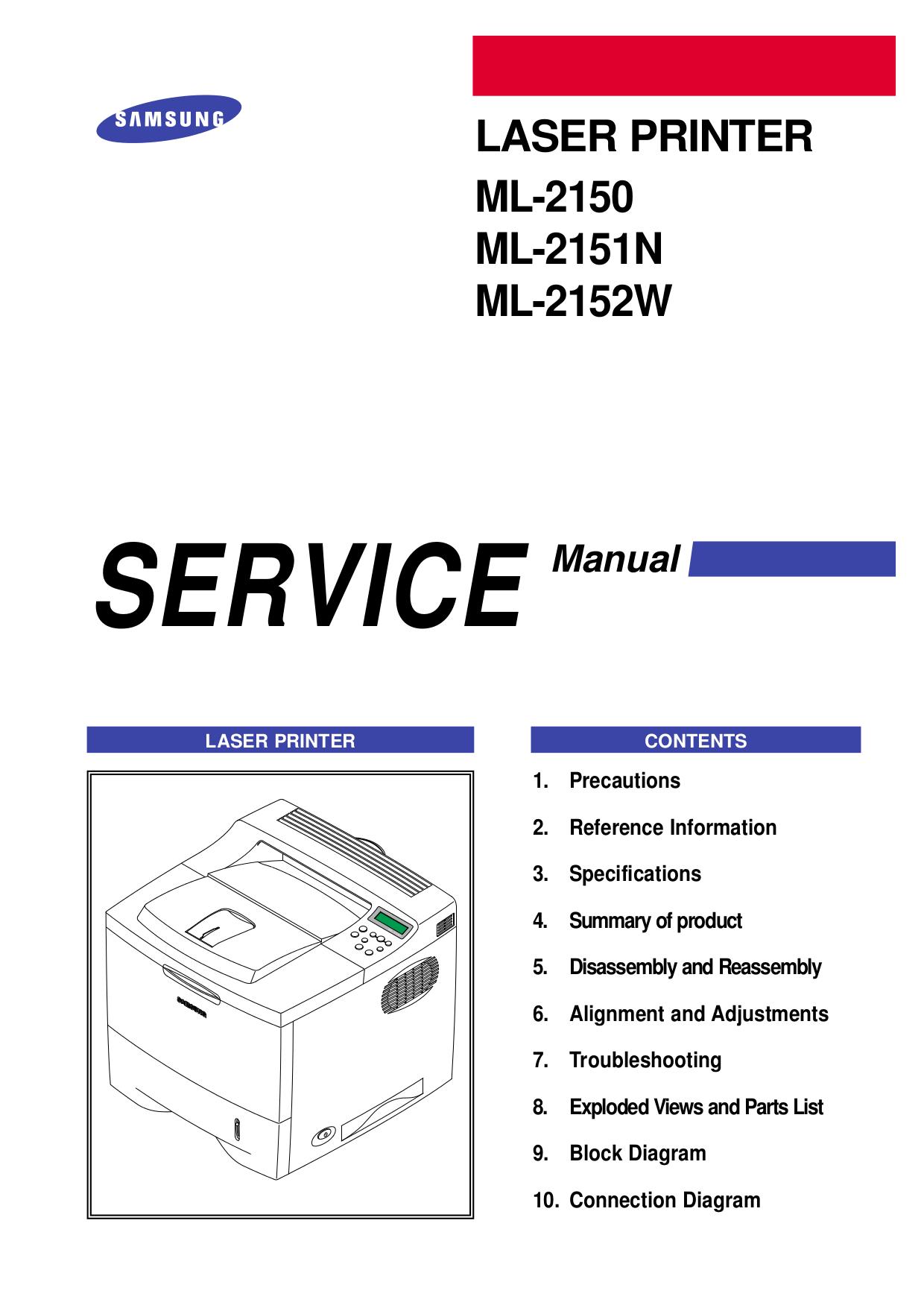 pdf for Samsung Printer ML-6060 manual