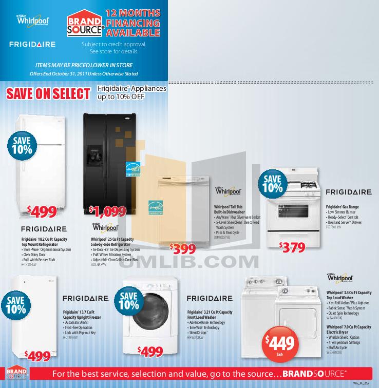 pdf for Frigidaire Refrigerator FFHS2622MS manual