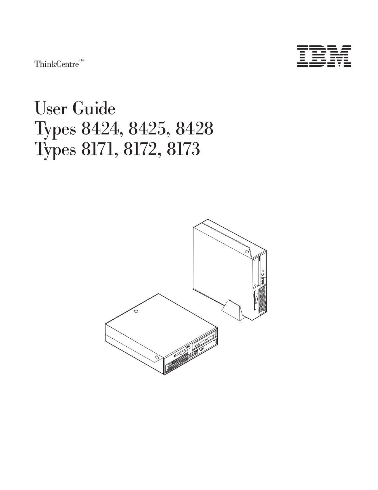 pdf for Lenovo Desktop ThinkCentre S51 8173 manual