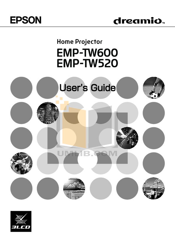 pdf for Epson Projector EMP-TW 520 manual