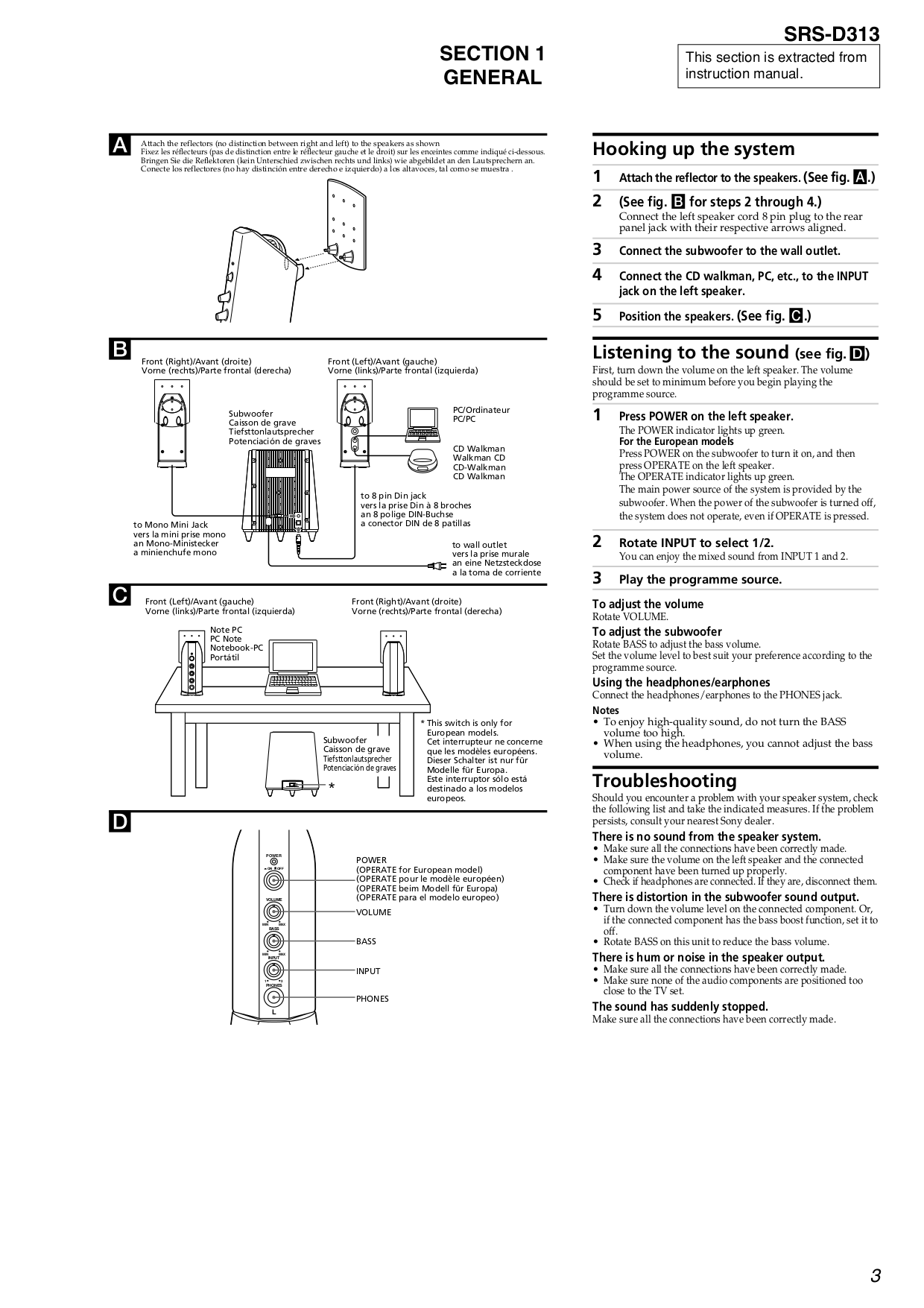 Pdf Manual For Sony Speaker Srs D313 Cheap Emergency Lights Using Page Preview