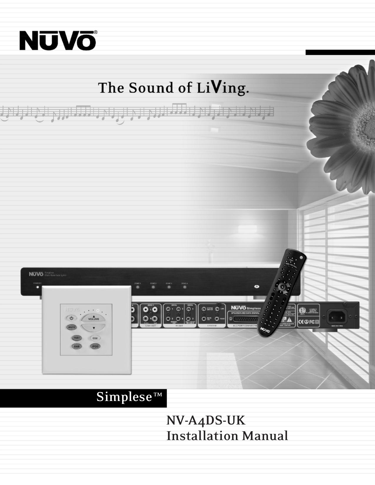 NVA4D UK_installation_manual.pdf 0 download free pdf for nuvo nv p2100 amp manual nuvo simplese wiring diagram at eliteediting.co