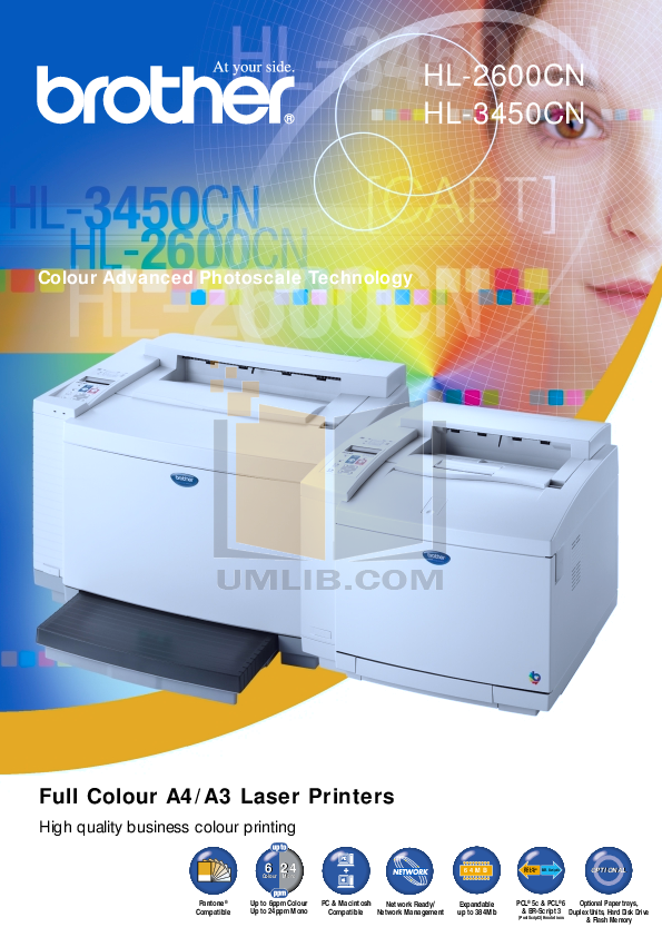 pdf for Brother Printer HL-3450CN manual