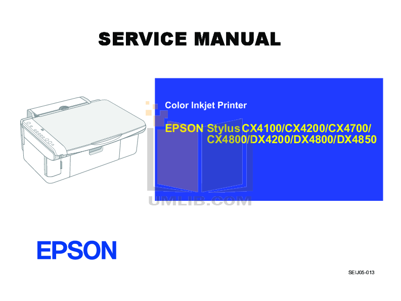 pdf for Epson Printer Stylus CX4200 manual