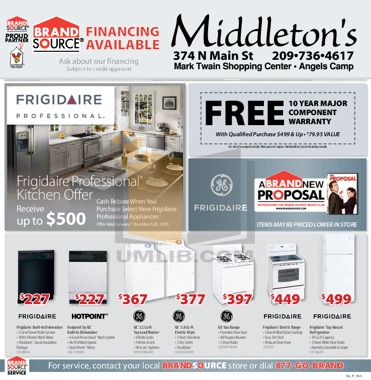 pdf for Frigidaire Refrigerator Gallery FGHS2644KF manual