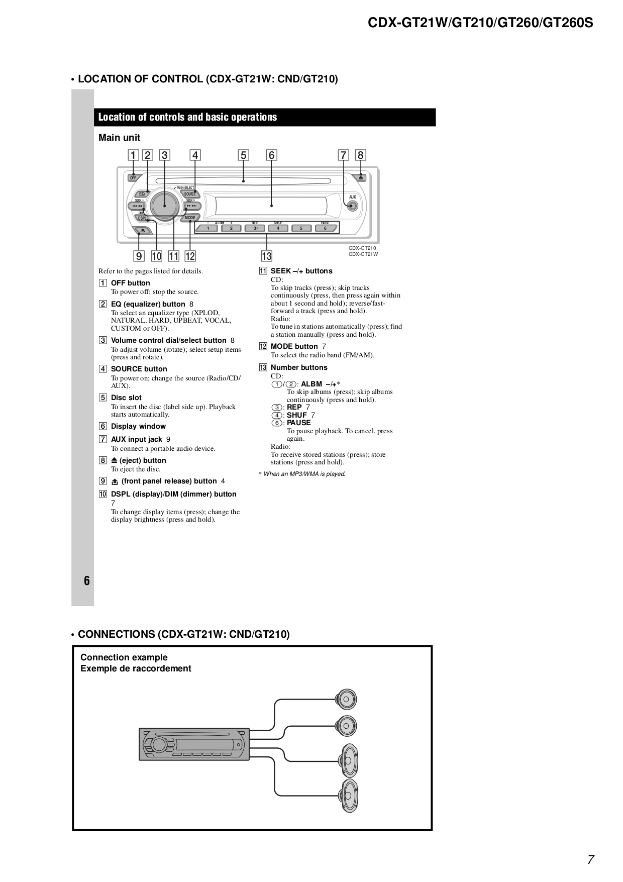 Sony Stereo Receiver Wiring Diagram Library Eq To Reciever Pdf Manual For Car Cdx Gt21w Rh Umlib Com