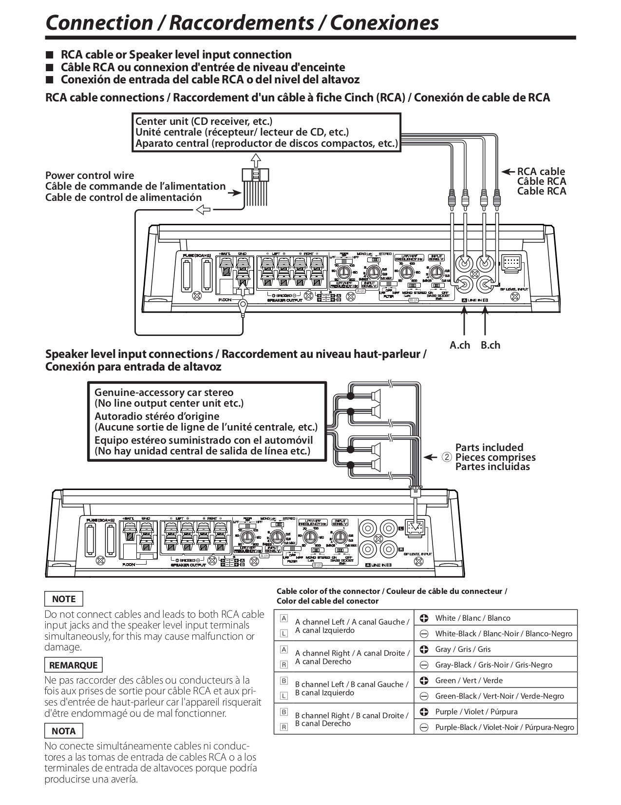 113KAC8405.PDF 5 pdf manual for kenwood amp kac 720 Kenwood Model KDC Install Wiring at pacquiaovsvargaslive.co