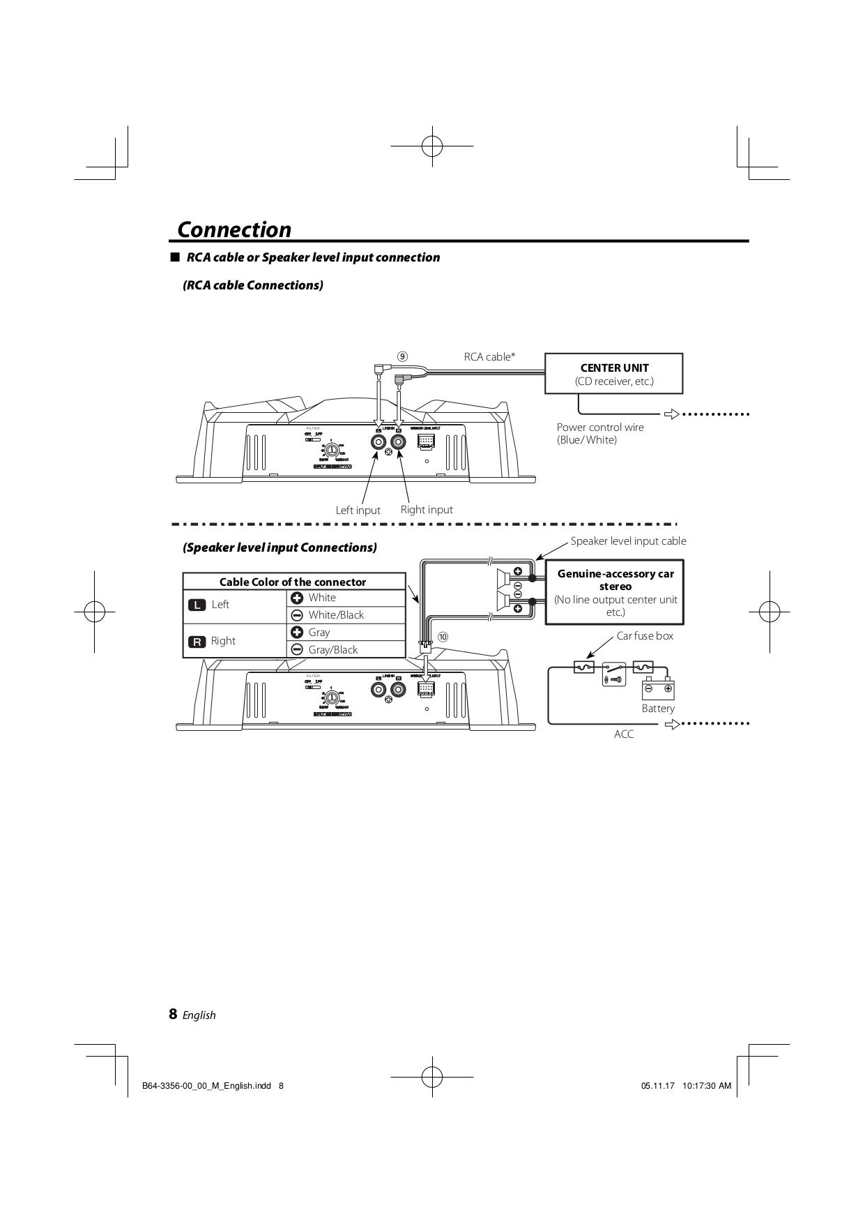 pdf manual for kenwood amp kac 720 Kenwood Radio Wiring Colors at Kenwood Kac 720 Wiring Diagram