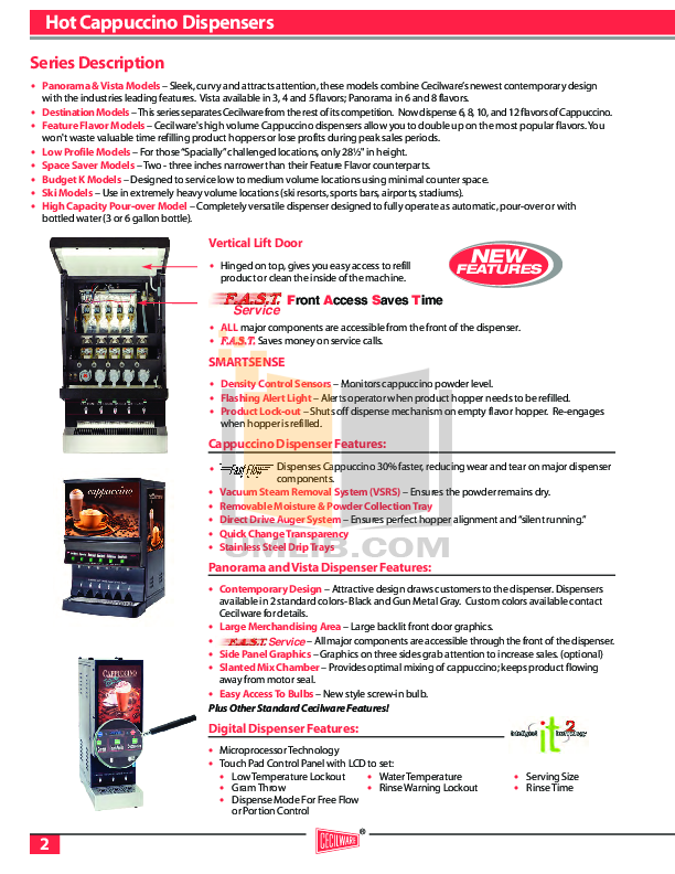 pdf for Cecilware Other HWD3PC Dispensers manual
