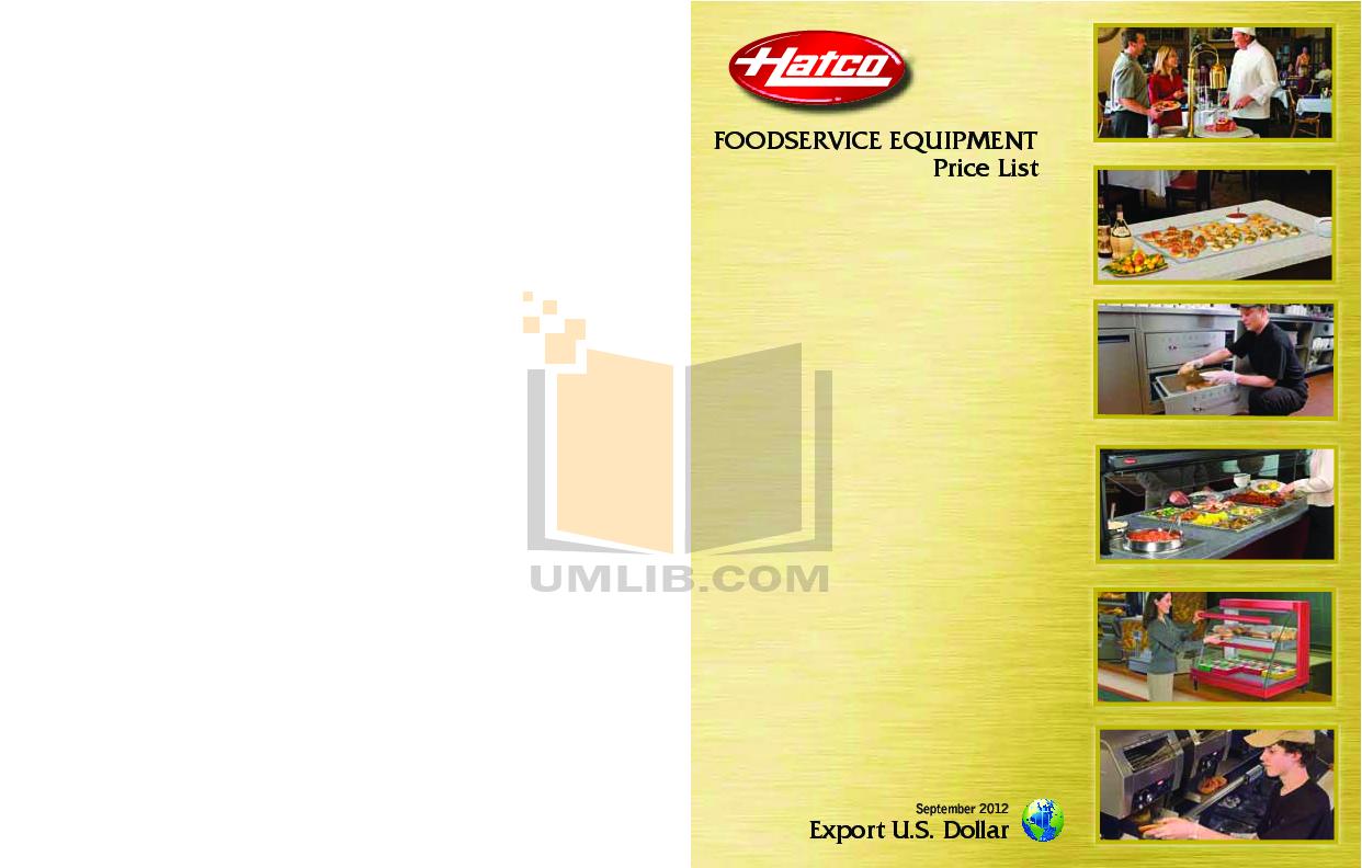 pdf for Hatco Other UGAHL-30 manual