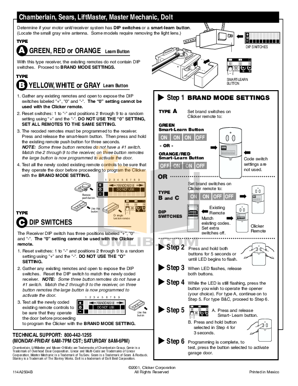 Pdf Manual For Chamberlain Other Liftmaster 1255 2r Garage