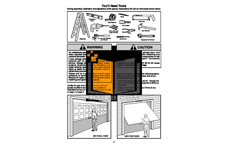 Liftmaster Garage Door Instruction Manual Kostenlos Herunterladen