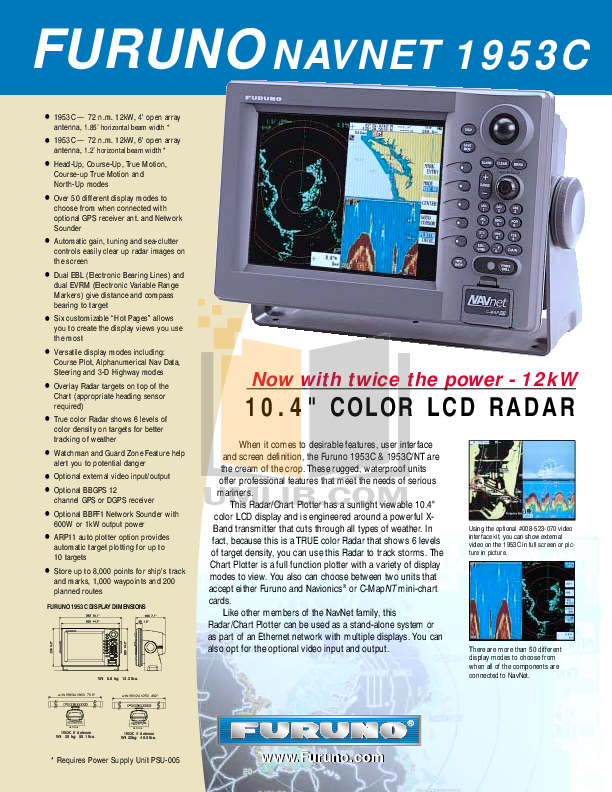 pdf for Furuno Other 1953C Radar manual