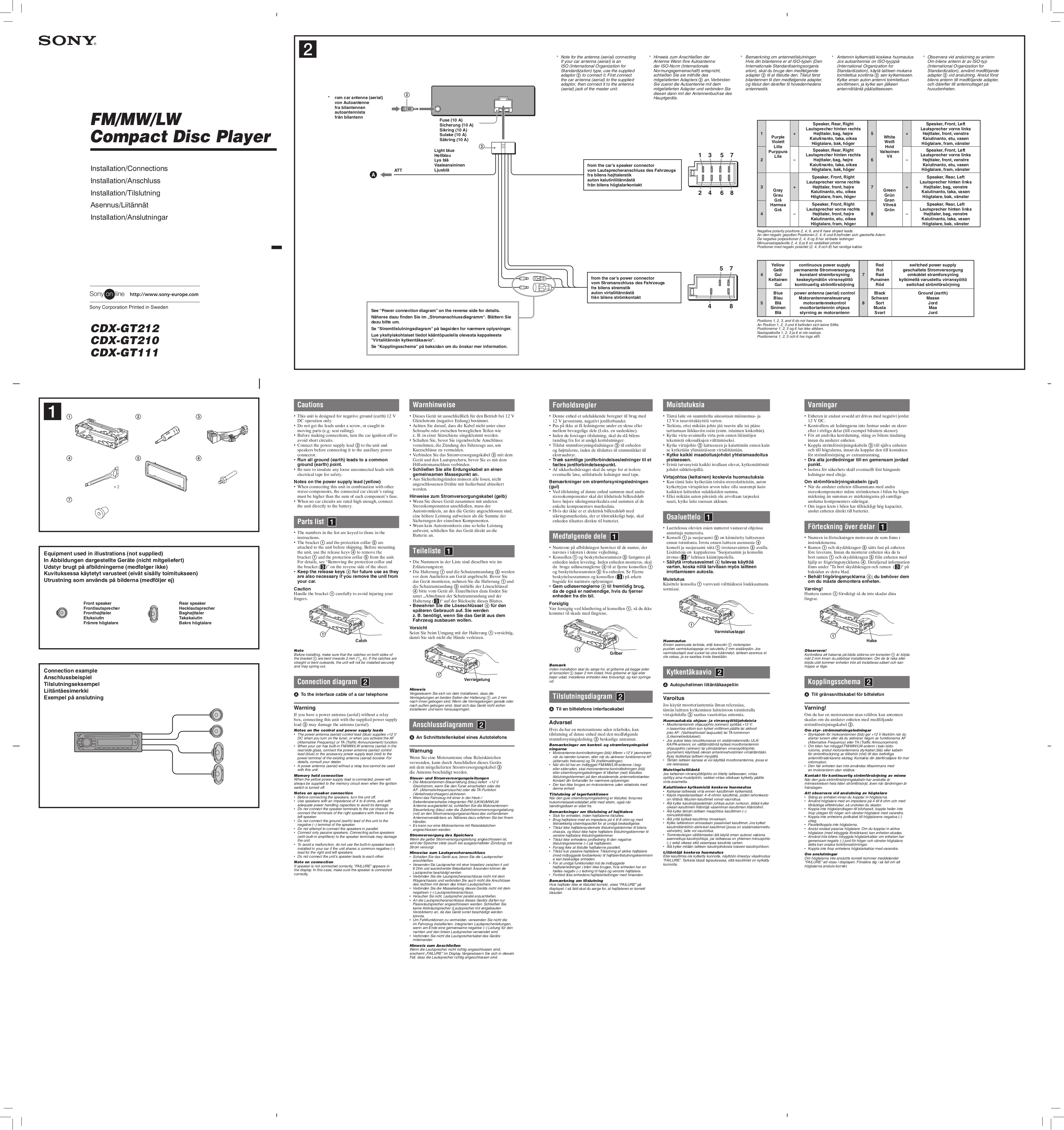 CDXGT 111_210_212.pdf 0 download free pdf for sony cdx gt210 car receiver manual sony cdx gt200 wiring diagram at crackthecode.co