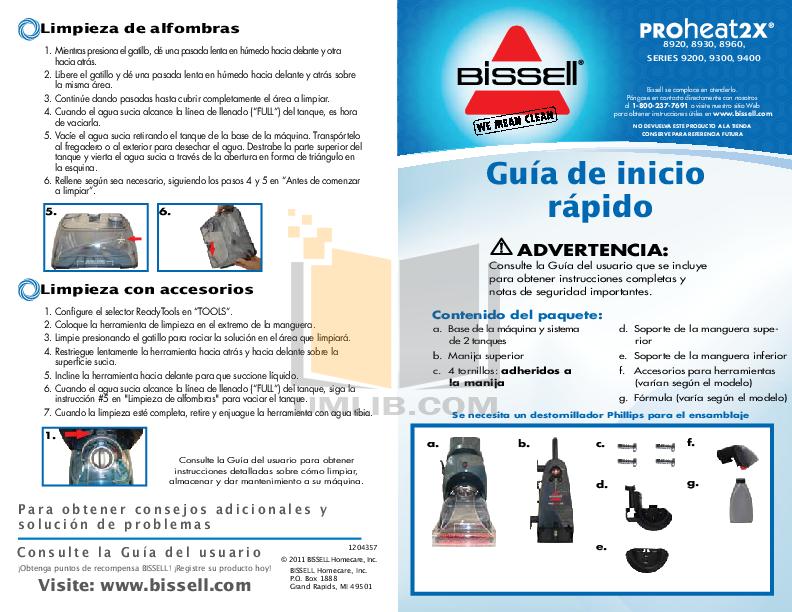 pdf for Bissell Vacuum 66Q4 manual
