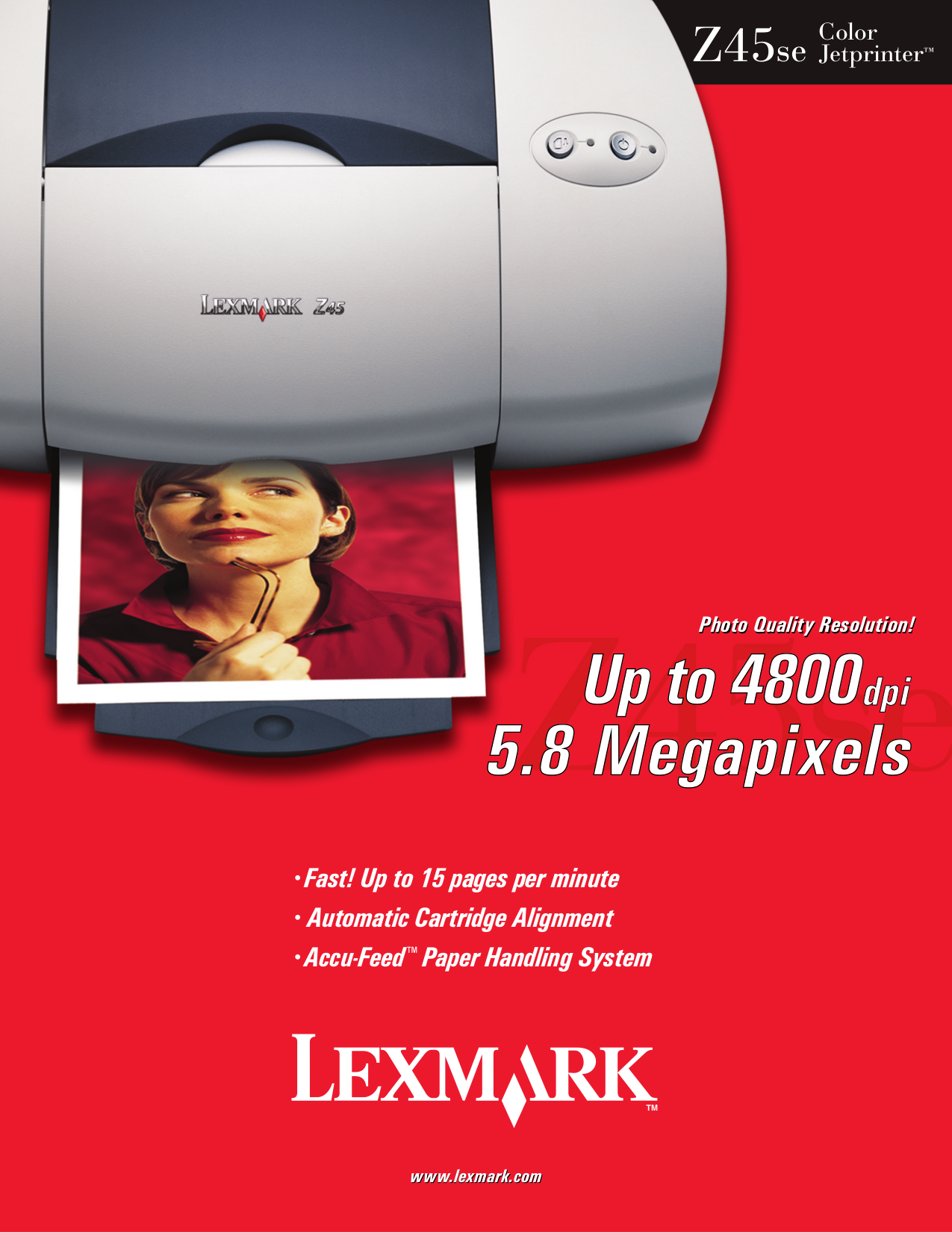 pdf for Lexmark Printer Z45se manual