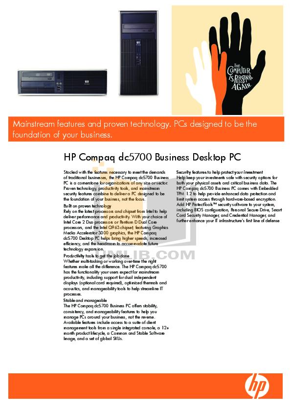 download free pdf for hp compaq dc5700 desktop manual rh umlib com hp compaq dc5700 service manual hp compaq dc5700 motherboard manual