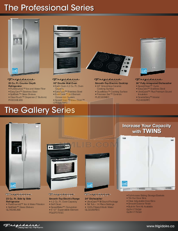 Frigidaire Refrigerator Professional PHT219JKM pdf page preview