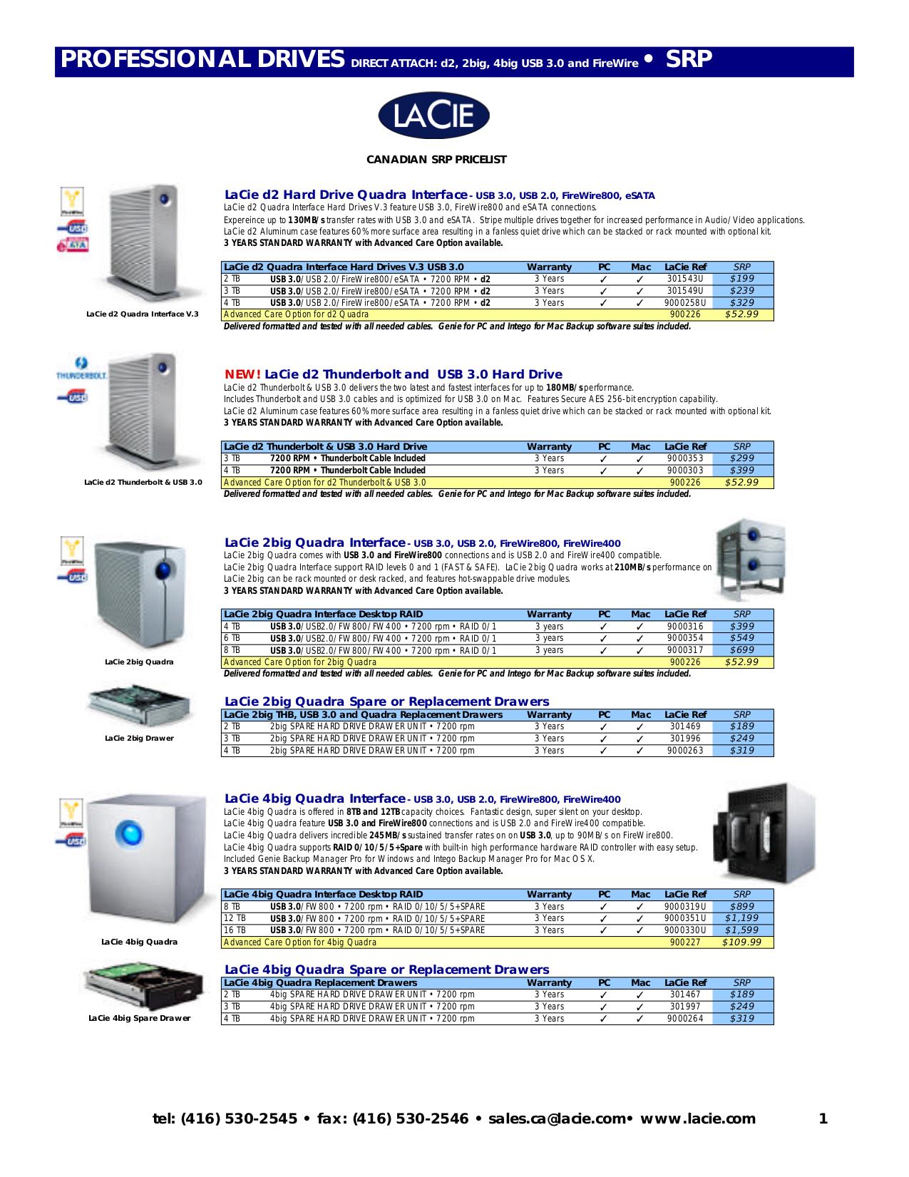 pdf for LaCie Storage 302000 manual