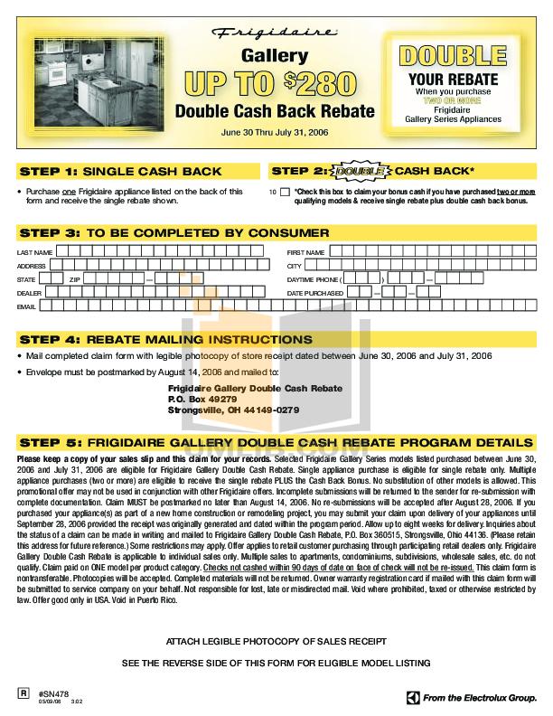 pdf for Frigidaire Refrigerator GLHS68EGPB manual
