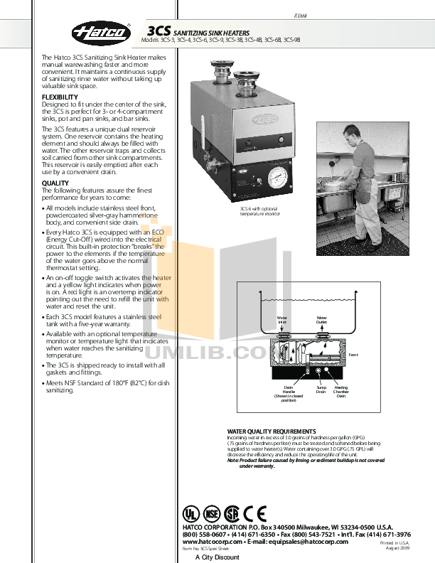 pdf for Hatco Other 3CS-6 manual