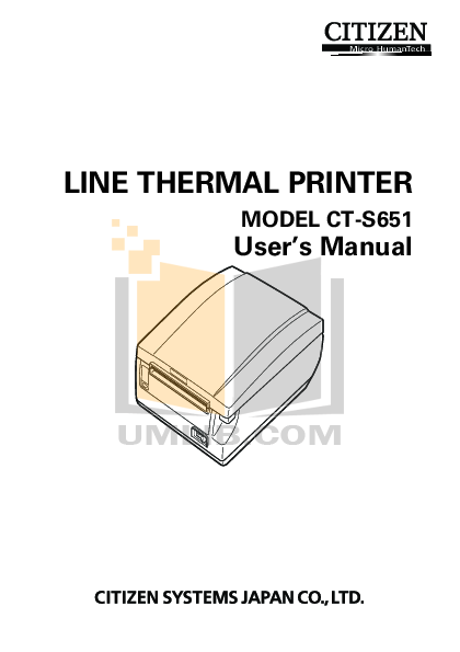 pdf for Citizen Printer CTS651 manual