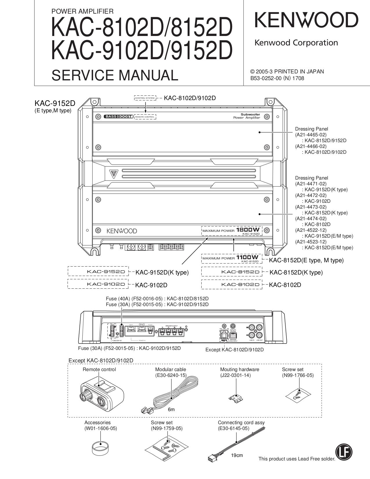 Kenwood Amp KAC-622 pdf page preview ...