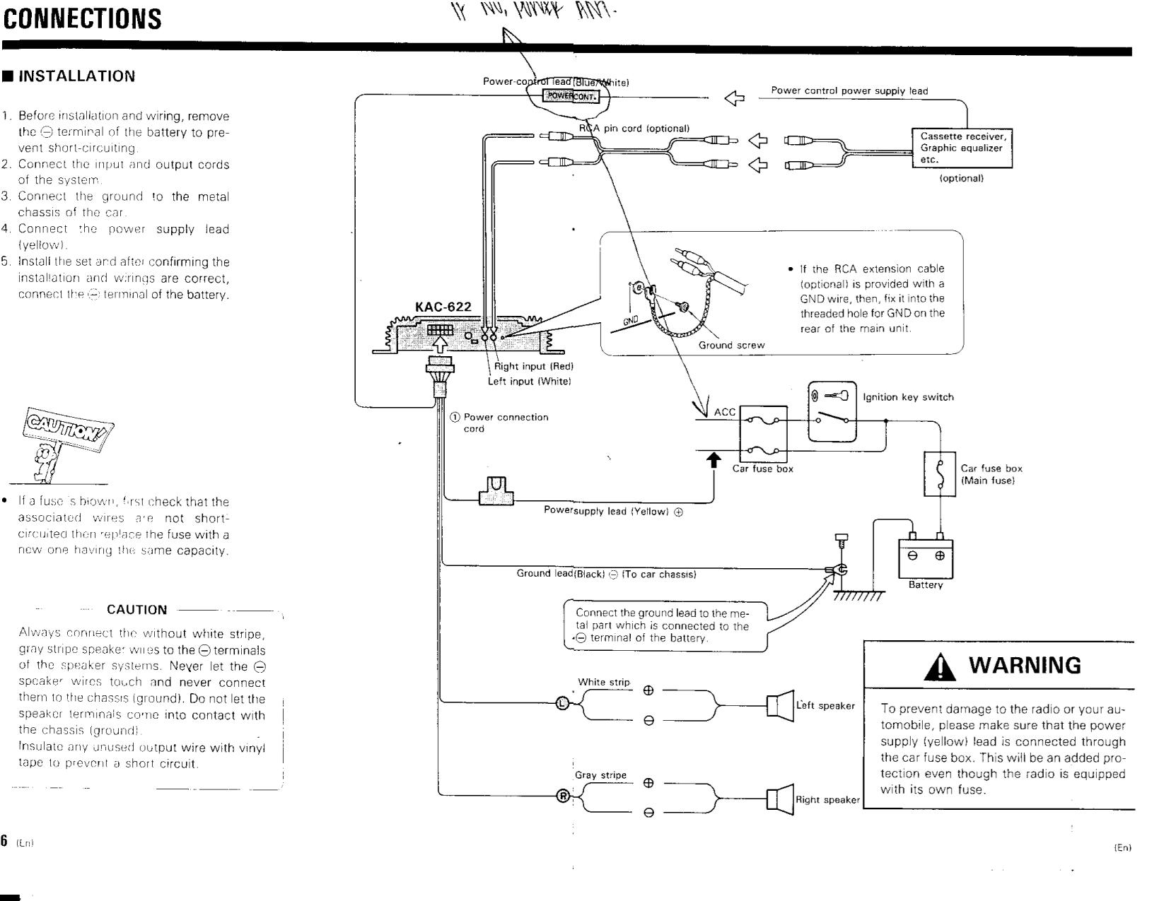 pdf manual for kenwood amp kac 622. Black Bedroom Furniture Sets. Home Design Ideas