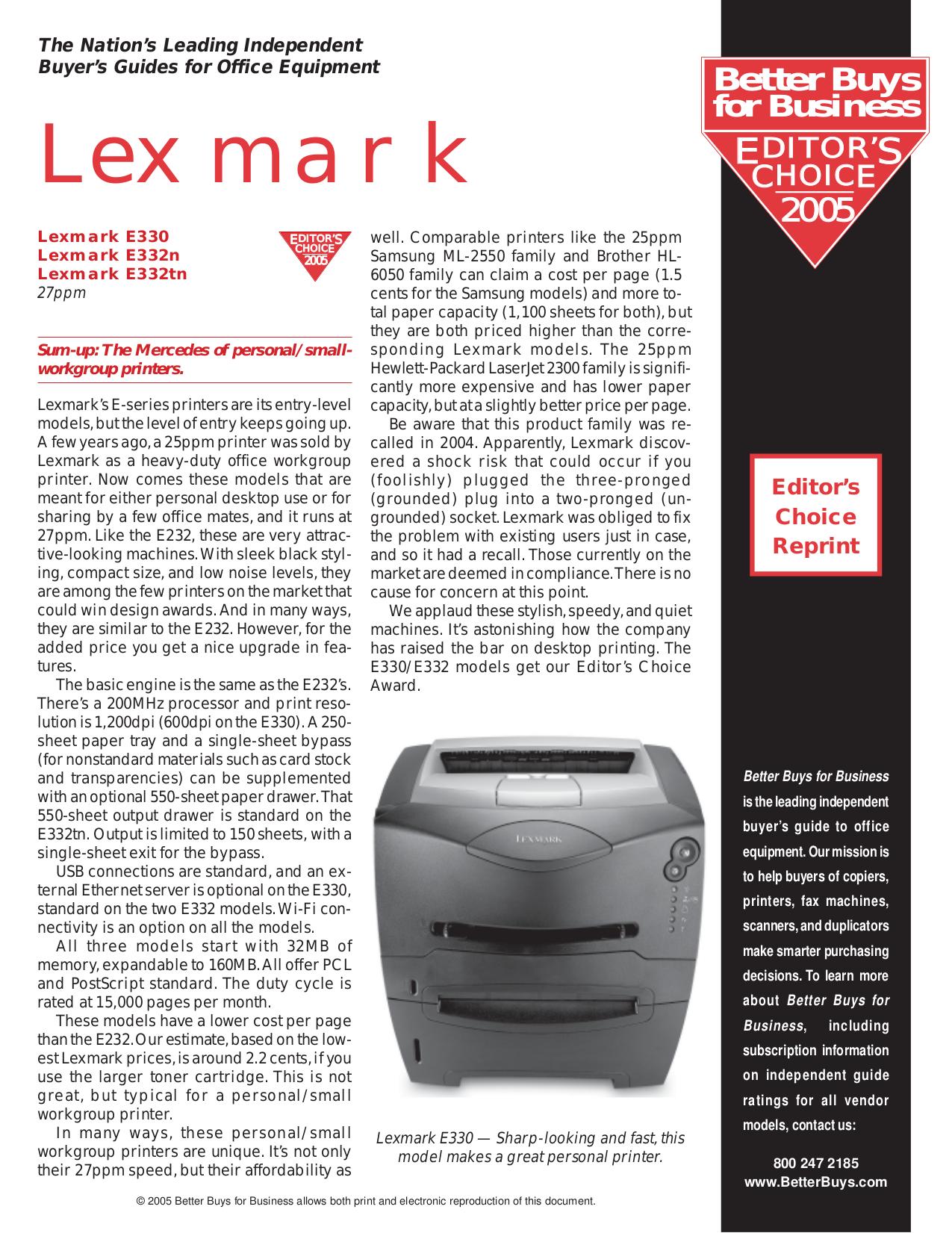 pdf for Lexmark Printer T430d manual