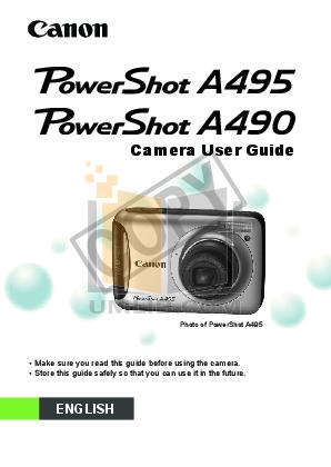download free pdf for canon powershot a495 digital camera manual rh umlib com Digital Canon PowerShot A495 Tripods for a Canon PowerShot A495
