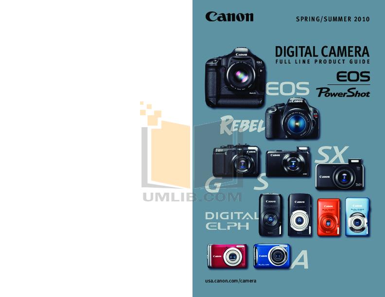 pdf for Canon Digital Camera Powershot A495 manual