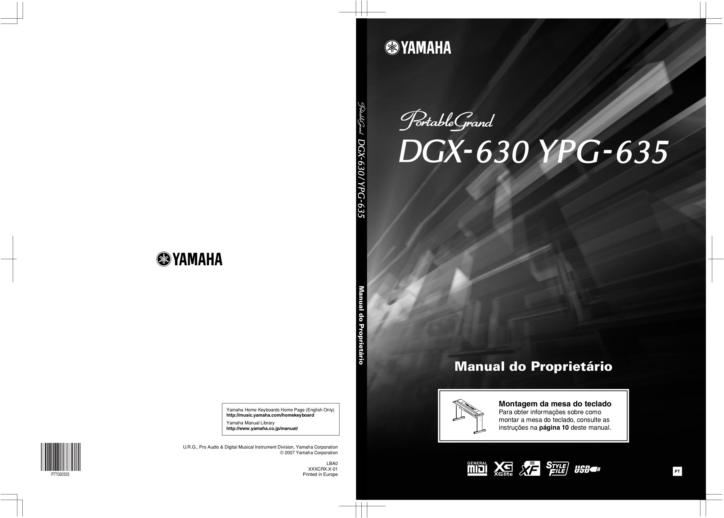 Pdf manual for yamaha music keyboard dgx 630 for Yamaha dgx 630 ypg 635