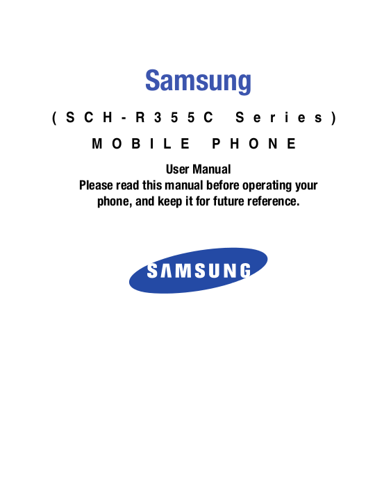 pdf for Samsung Cell Phone Freeform III manual