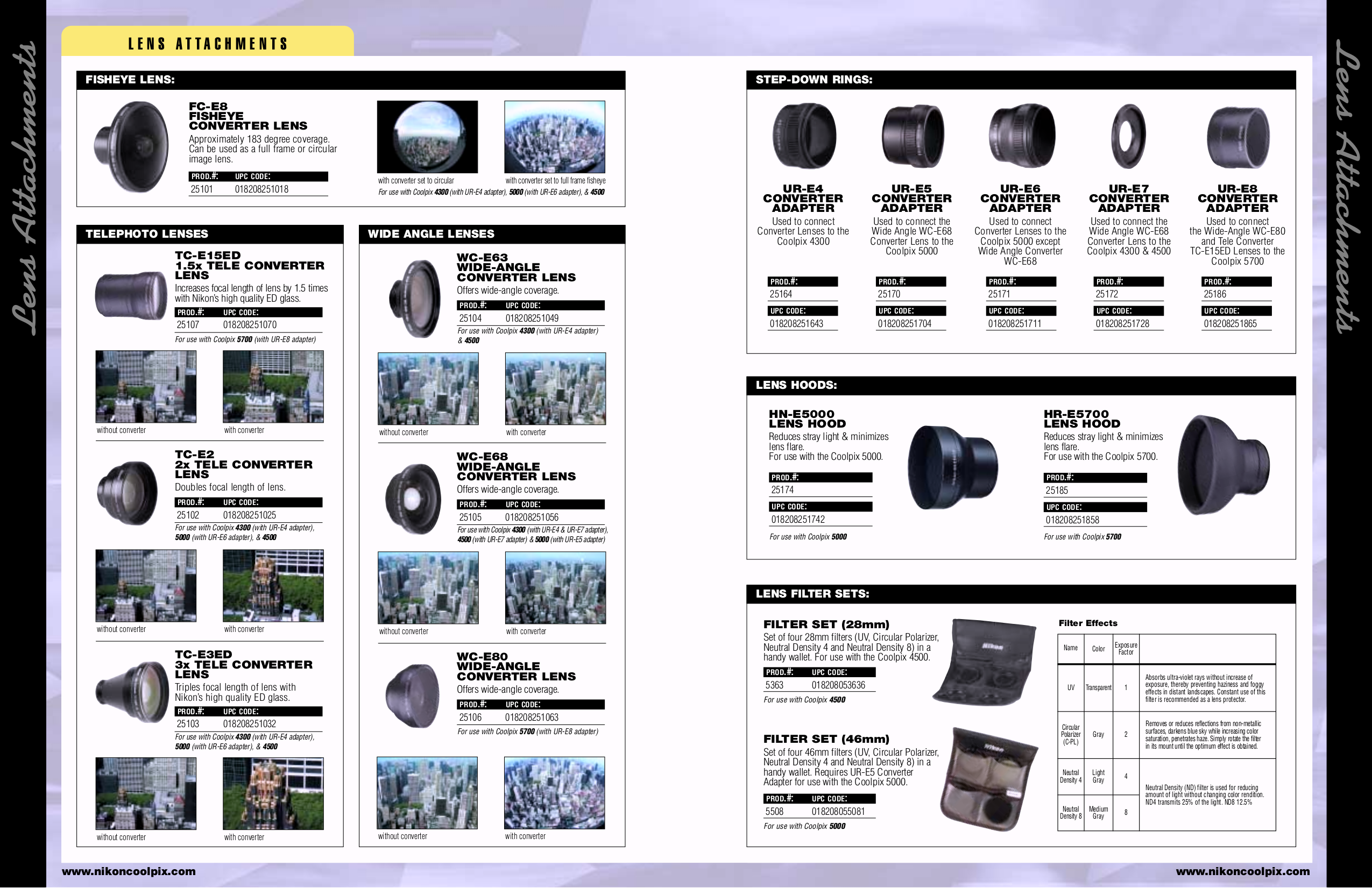 pdf for Nikon Other HL-E2500 Camera Lens Hood manual