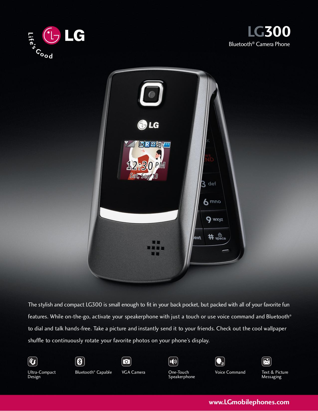 lg lg300 cell phone manual
