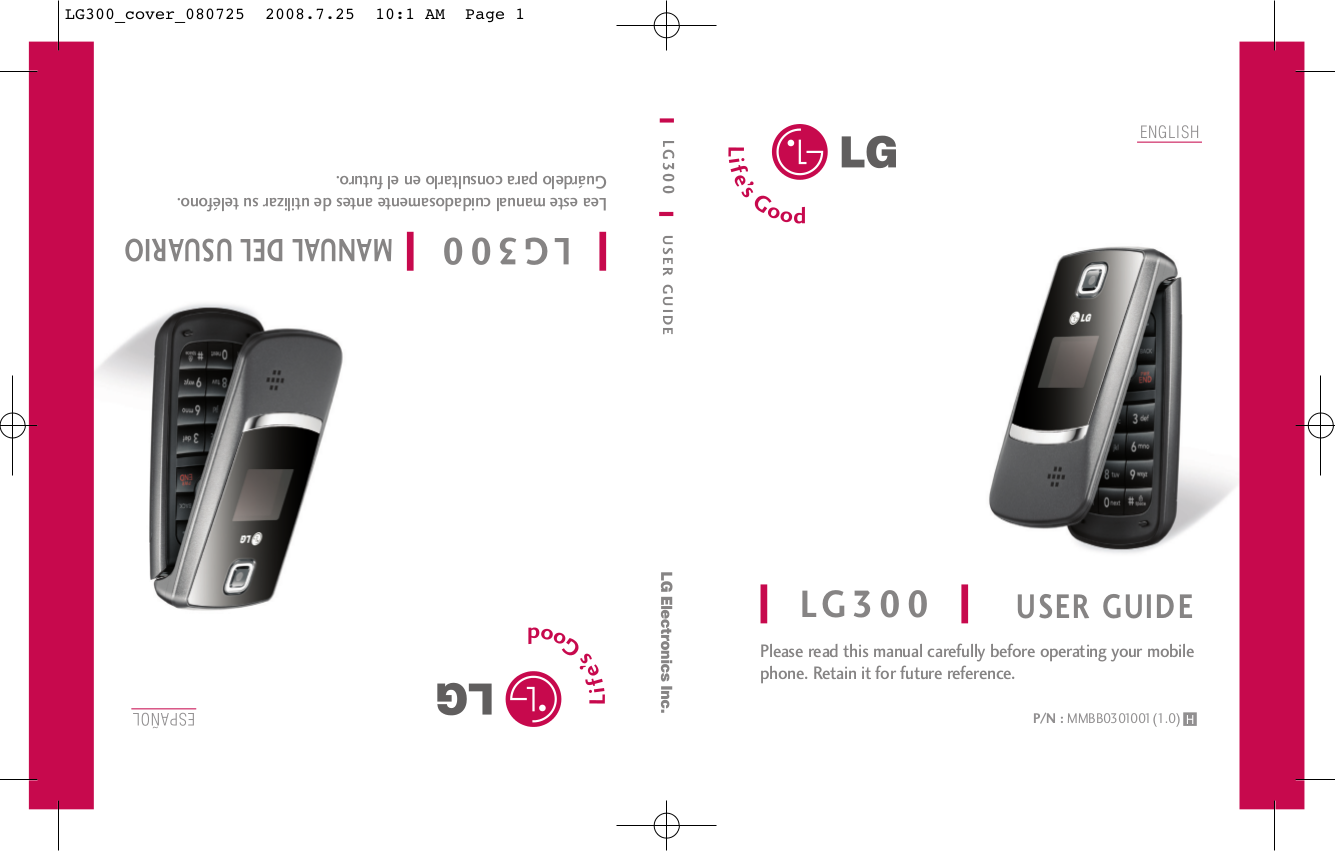 pdf for LG Cell Phone LG300 manual