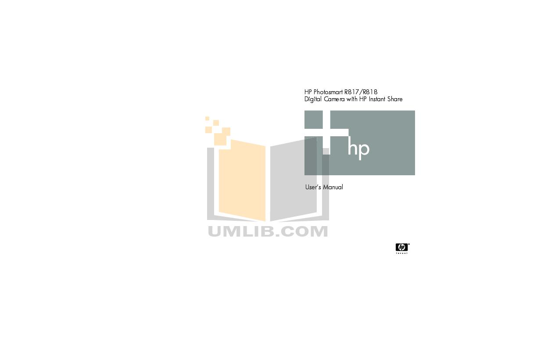pdf for HP Digital Camera Photosmart R818 manual
