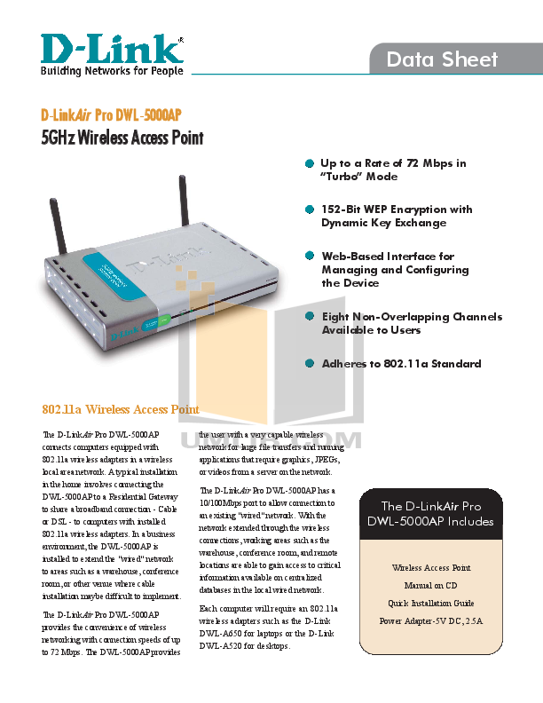 pdf for D-link Other DWL-5000AP manual