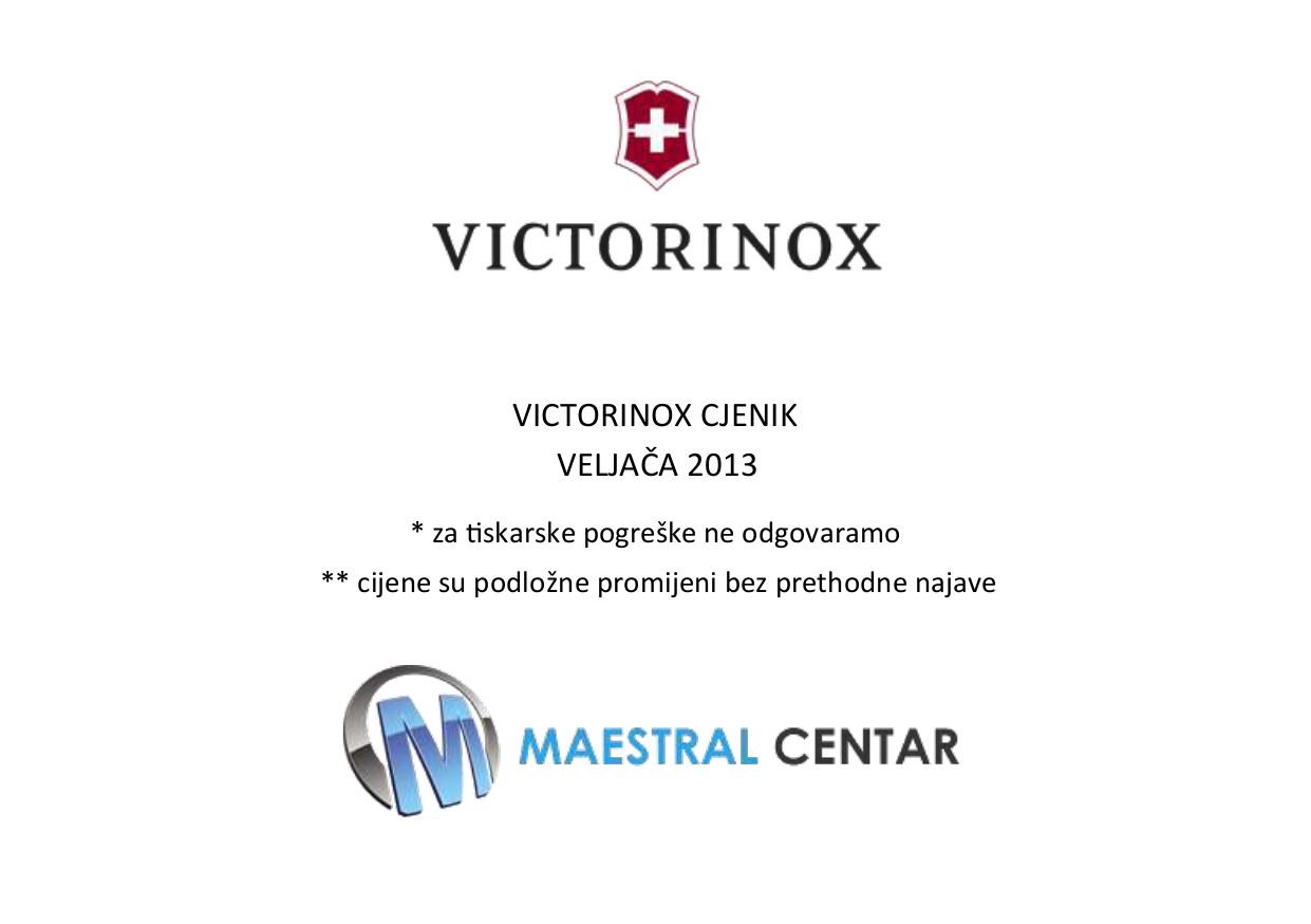 pdf for Victorinox Storage SwissFlash SwissFlash 2GB manual