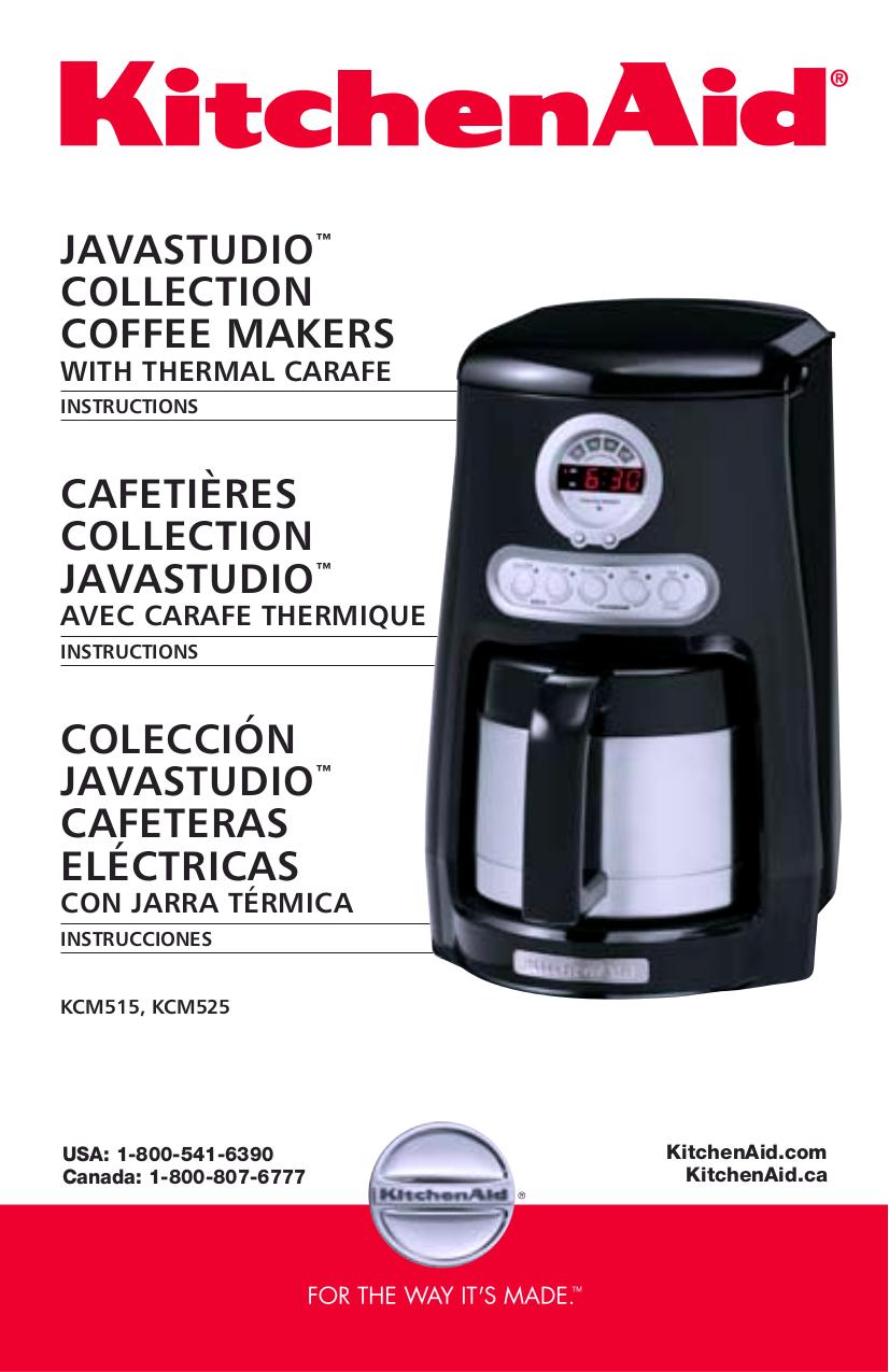 Download Free Pdf For Kitchenaid Kcm515 Coffee Maker Manual